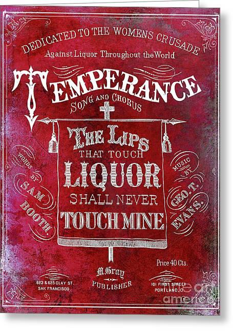 Prohibition Lips Red Greeting Card by Jon Neidert