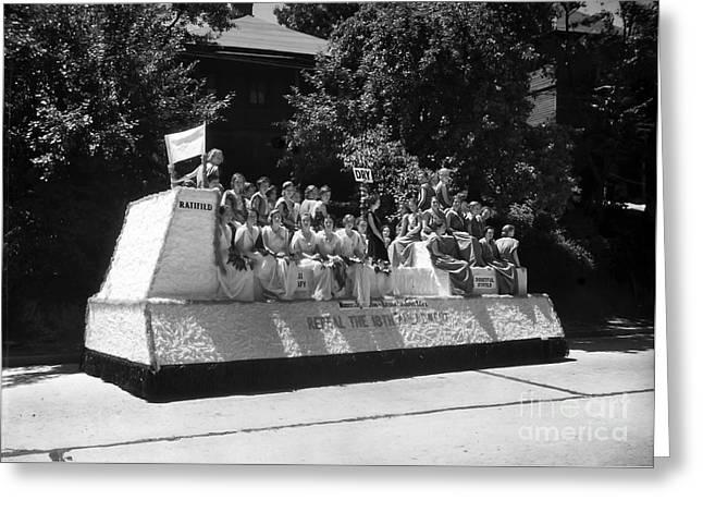 Prohibition Parade Float Greeting Card by Jon Neidert