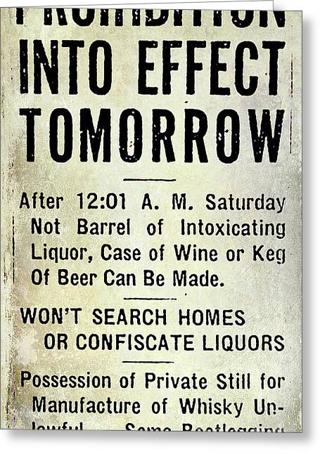 Prohibition Sign Greeting Card