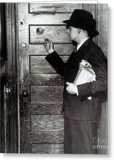 Prohibition, Speakeasy Peephole, 1930s Greeting Card by Science Source