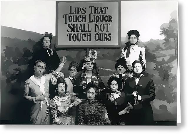 Prohibition Women Greeting Card by Dan Sproul