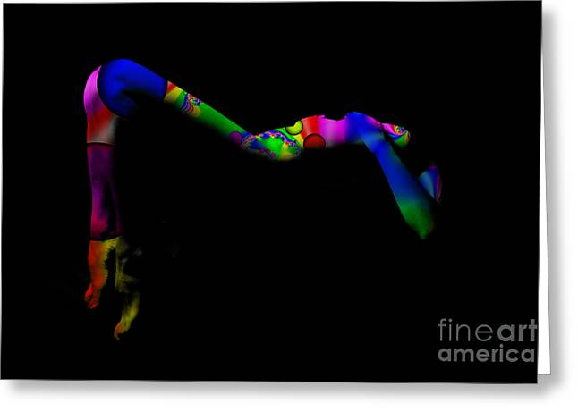 Projected Body Paint 2094947a Greeting Card