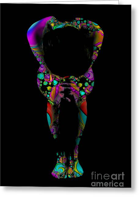 Projected Body Paint 2094995a Greeting Card by Rolf Bertram