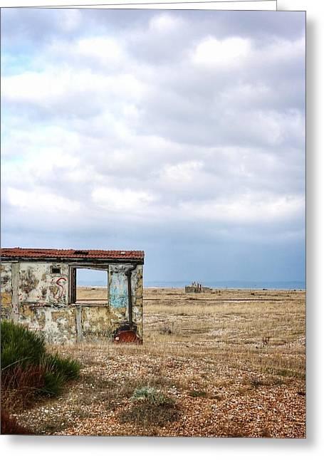 Projekt Desolate Block Greeting Card by Stuart Ellesmere