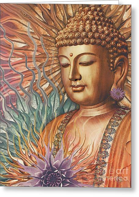 Proliferation Of Peace - Buddha Art By Christopher Beikmann Greeting Card