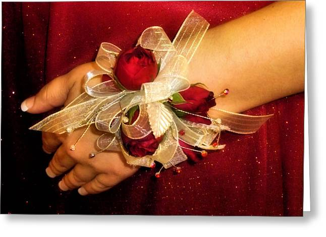 Prom Corsage Greeting Card by Karen M Scovill