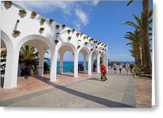 Promenade In Nerja Greeting Card