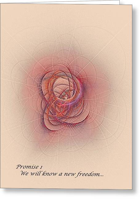 Promise 1 New Freedom Greeting Card