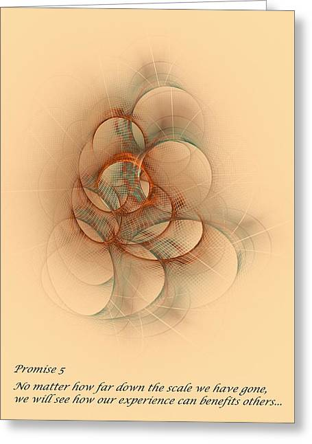 Promise 5 Your Past Can Help Others Greeting Card
