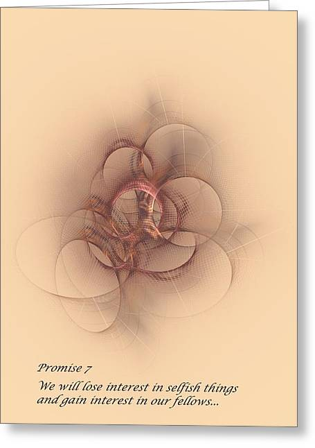 Promise 7 Thinking Of Others Greeting Card