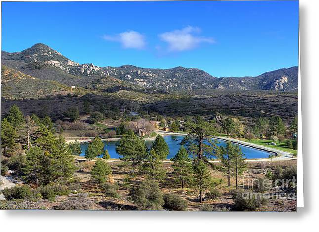 Greeting Card featuring the photograph Promise Lake And Camp Scherman by Eddie Yerkish