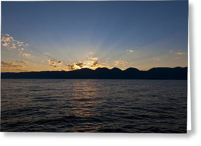Crepuscular Rays Greeting Cards - Promise of a New Day Greeting Card by Scotts Scapes