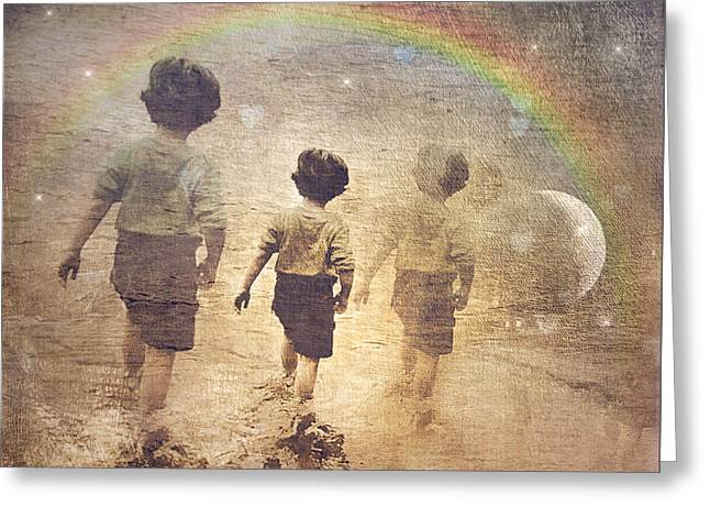 Phases Of The Journey--the Promise Of The Rainbow Greeting Card