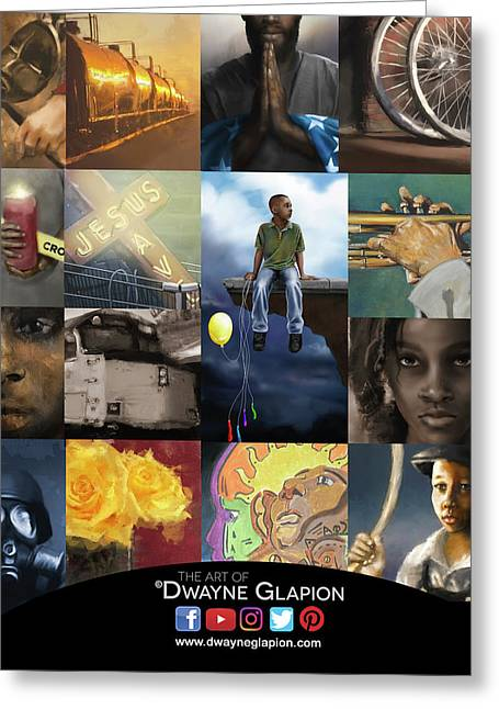 Greeting Card featuring the digital art Promotional 01 by Dwayne Glapion