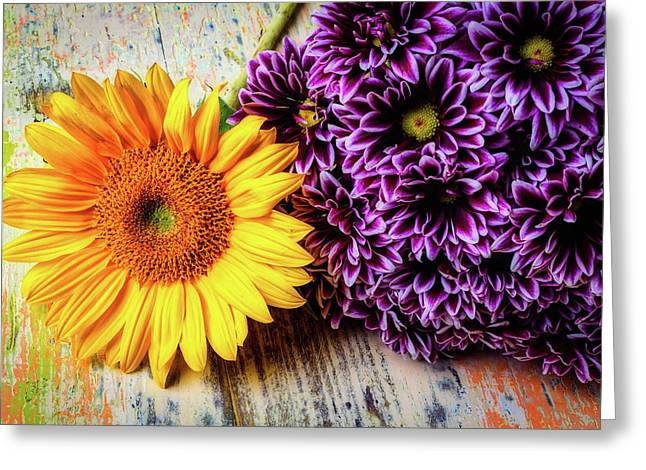 Proms With Sunflower Greeting Card