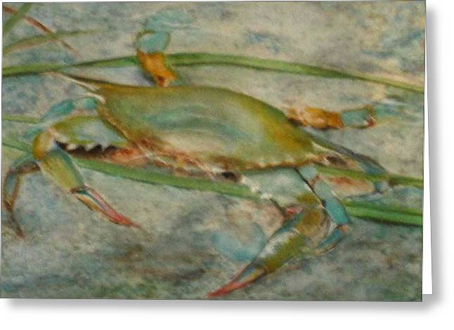 Propa Blue Crab Greeting Card