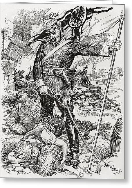 Propaganda Illustration Entitled The Greeting Card
