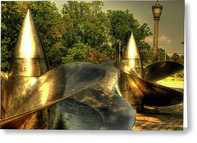 Annapolis Maryland Greeting Cards - Propellers Greeting Card by Frank Garciarubio