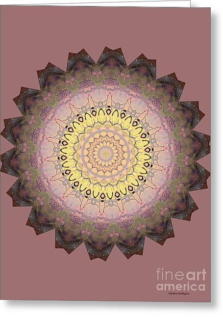 Proper Pink Mandala Greeting Card by Sandra Gallegos