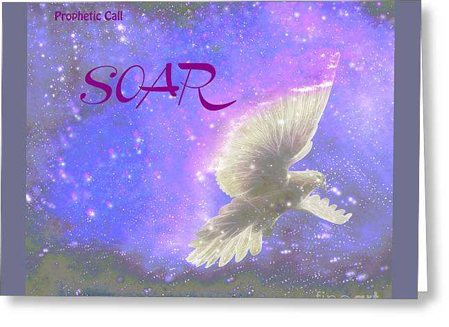 Prophetic Call Soar Greeting Card by Beverly Guilliams