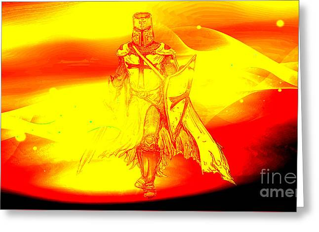 Prophetic Touch, Go Forth Mighty Warrior Greeting Card by Beverly Guilliams