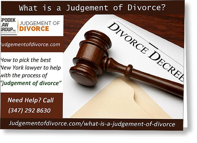 Proposed Final Judgement Of Divorce Greeting Card by Henry Williams