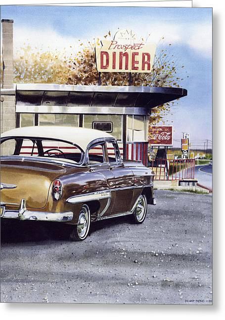 Prospect Diner Greeting Card by Denny Bond