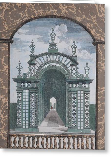 Prospect Of The Palace Of Chantilly Greeting Card by MotionAge Designs