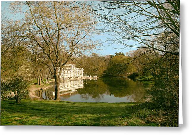 Prospect Park Boathouse Greeting Card by Jessica Jenney