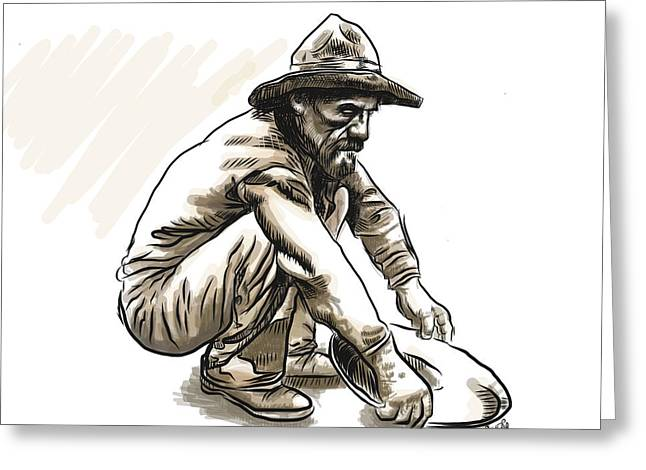 Prospector Greeting Card