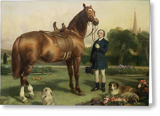 Collie Greeting Cards - Prosperity Greeting Card by Sir Edwin Landseer