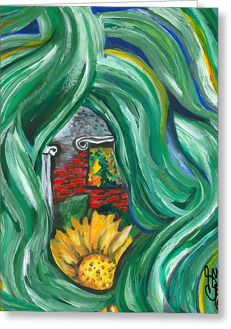 Prosperity Greeting Card by Susan Cooke Pena
