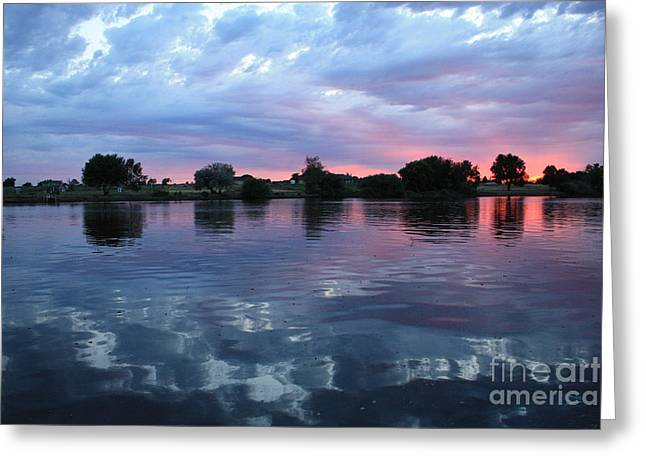 Prosser Pink Sunset 5 Greeting Card by Carol Groenen