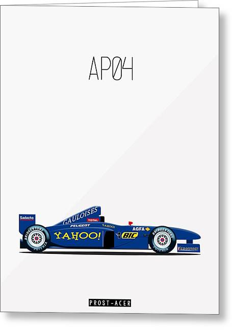 Prost Acer Ap04 F1 Poster Greeting Card by Beautify My Walls