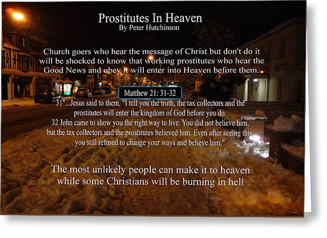 Prostitutes In Heaven Greeting Card