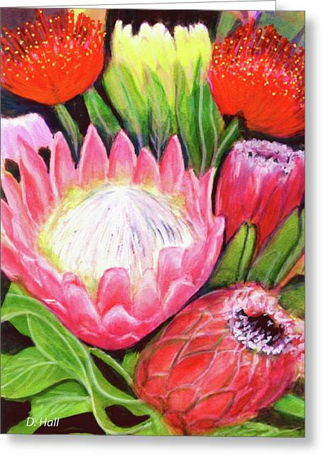Protea Flowers #240 Greeting Card by Donald k Hall