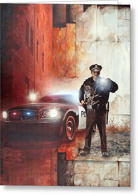 Protect And Serve Greeting Card