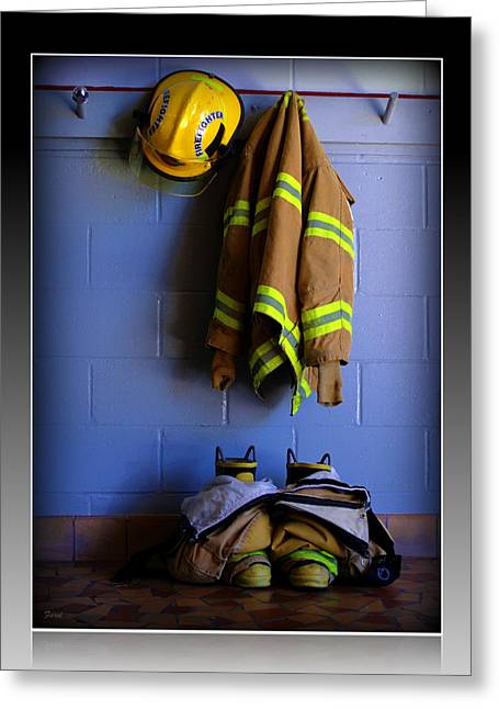 Protect And Serve Greeting Card by Farol Tomson