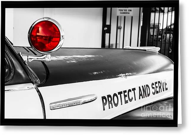 Protect And Serve Greeting Card by Imagery by Charly