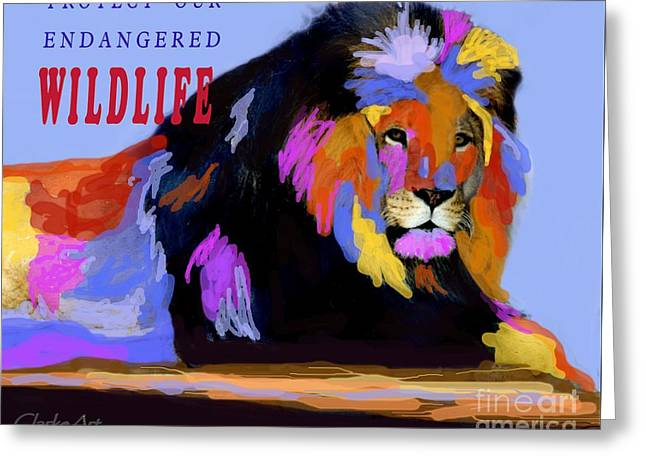 Protect Our Endangered Wildlife Greeting Card