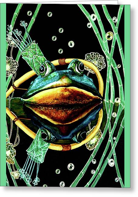 Protect Our Wetland Card Greeting Card by Debbie Chamberlin