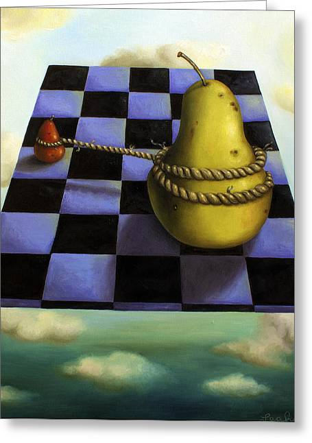 Checker Board Greeting Cards - Protecting Baby 7 The Safety Rope Greeting Card by Leah Saulnier The Painting Maniac