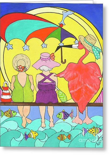 Protecting Friends Greeting Card by Rosemary Aubut