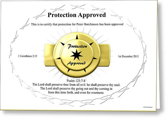 Protection Approved Greeting Card
