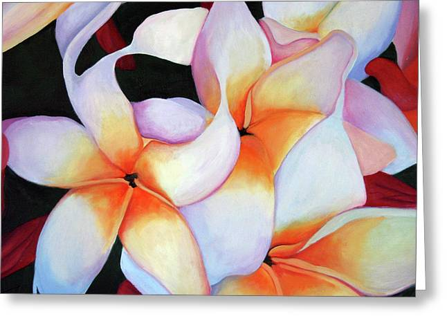 Protection Original Oil Painting On Panel Greeting Card