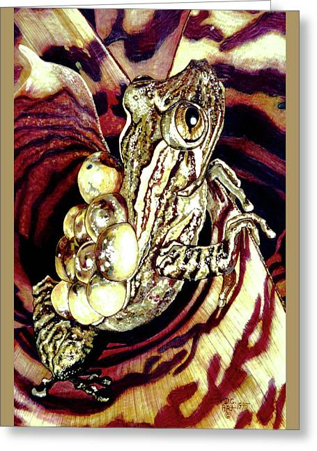 Protective Parent Card Greeting Card by Debbie Chamberlin