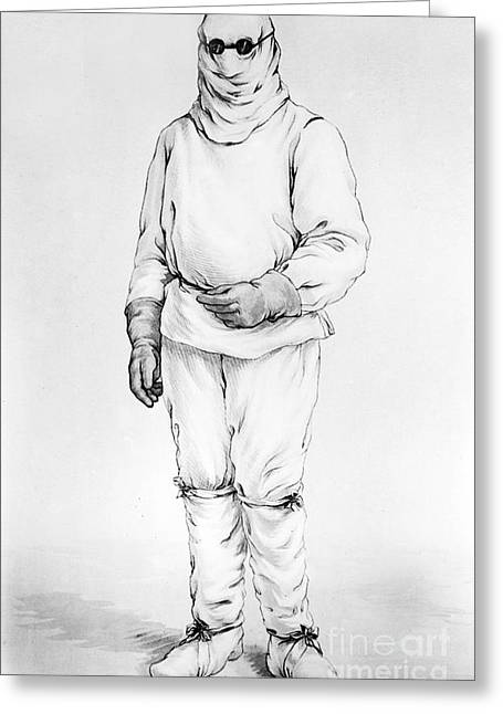 Protective Suit For Pneumonic Plague Greeting Card
