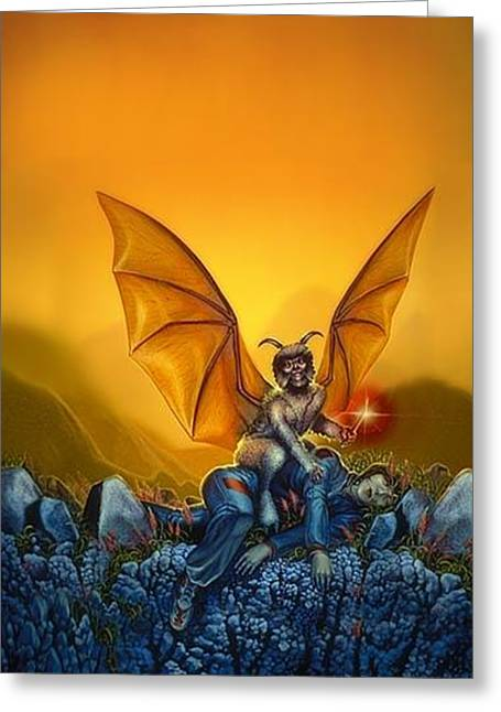 Protector Greeting Card by Todd Hamilton