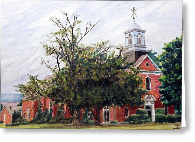 Protestant Chapel At Usmc Camp Lejeune Greeting Card by Jim Phillips