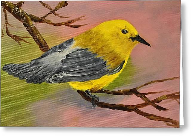 James Higgins Greeting Cards - Prothonotory Warbler Greeting Card by James Higgins
